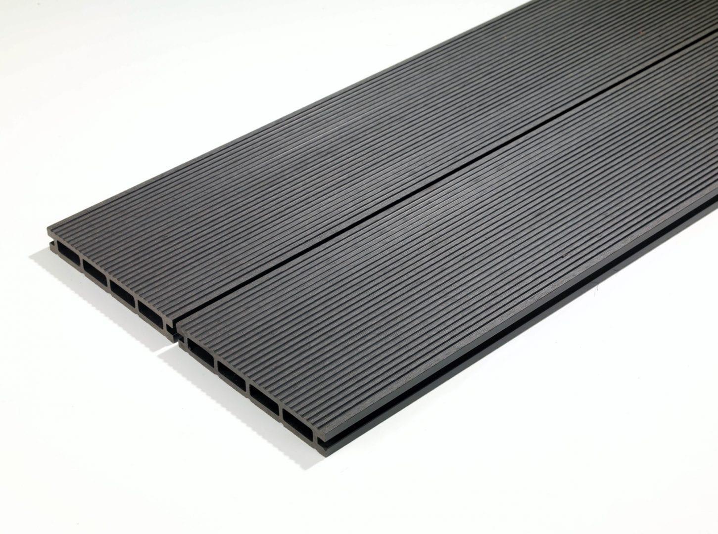 4m Composite Decking Boards Granite Jet