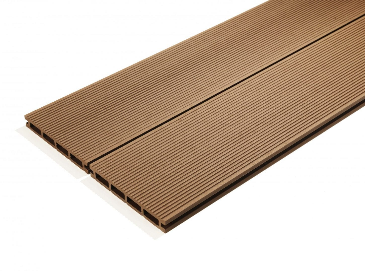 4m Composite Decking Boards Walnut Brown