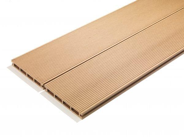 4m Composite Decking Boards Sand Oak